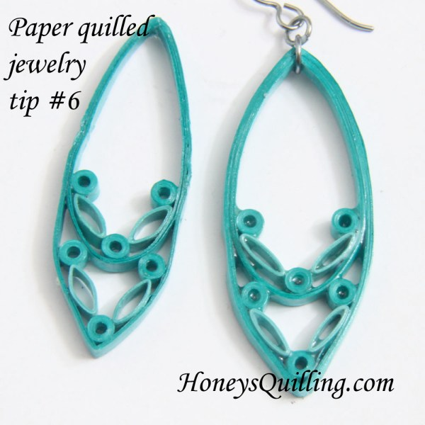 paper quilled jewelry tip - Honey's Quilling