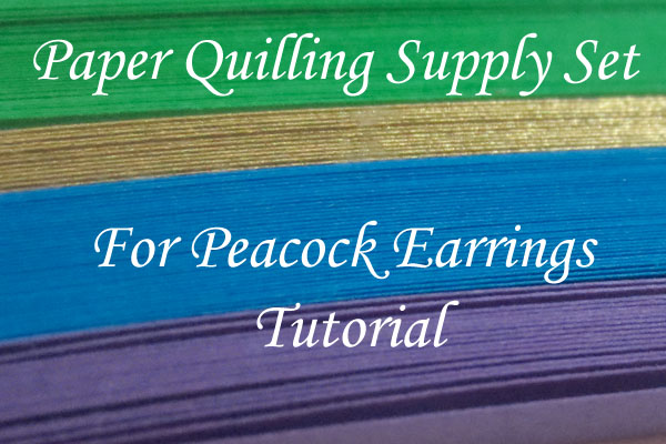 Paper Quilling Supply Kit for Peacock Tutorial