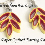Leafy Paper Quilled Earrings Free Pattern