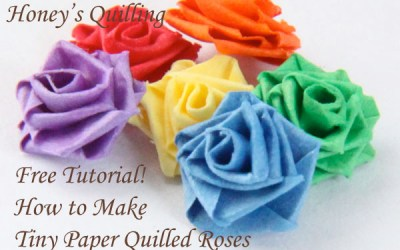 How to Make a TINY Paper Quilled Rose – Free Tutorial
