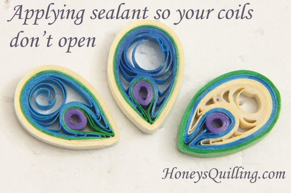 How to Apply Sealant to Paper Quilled Jewelry so the Coils Don't Open and Uncurl