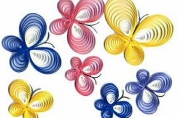 paper quilled butterfly inspiration