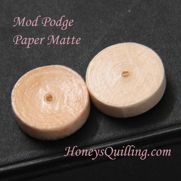 Using Mod Podge with paper quilled jewelry - part 2 - tight rolls - Honey's Quilling