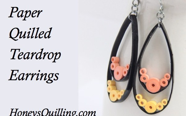Paper Quilled Teardrop Earrings