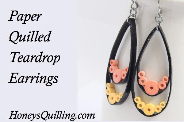Paper Quilled Teardrop Earrings