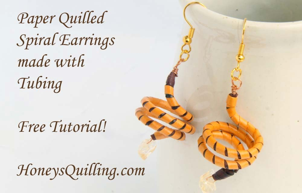 How to Make Spiral Earrings with Paper Quilling Tubing – Free Tutorial