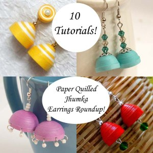 Roundup of 10 tutorials for making paper quilled jhumkas! - via Honey's Quilling