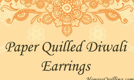 Paper Quilling Diwali Earrings