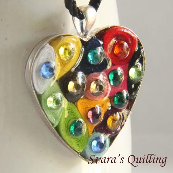 Paper Quilling for Kids - Svara's Heart Pendant