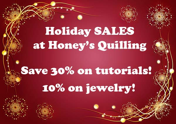 Holiday SALE – Save on Paper Quilling Jewelry and on Tutorials! Cyber Week Sale