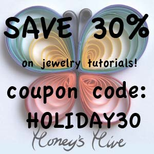Black Friday and Cyber Week Sale - Save 30% on Honey's Quilling tutorials!