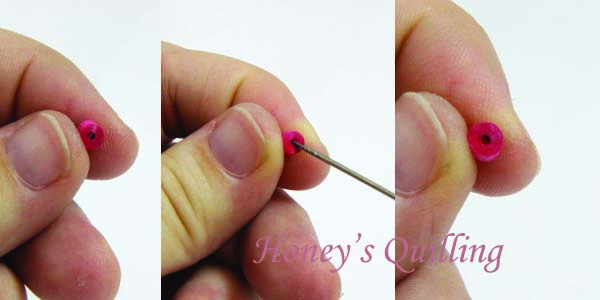 Making paper quilled jewelry tip #10 - Getting a smooth center for your tight rolls - Top Secret Info - Honey's Quilling