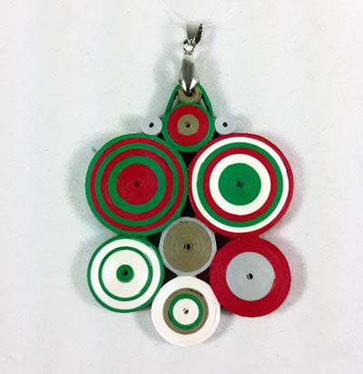 paper quilling christmas pendant circles
