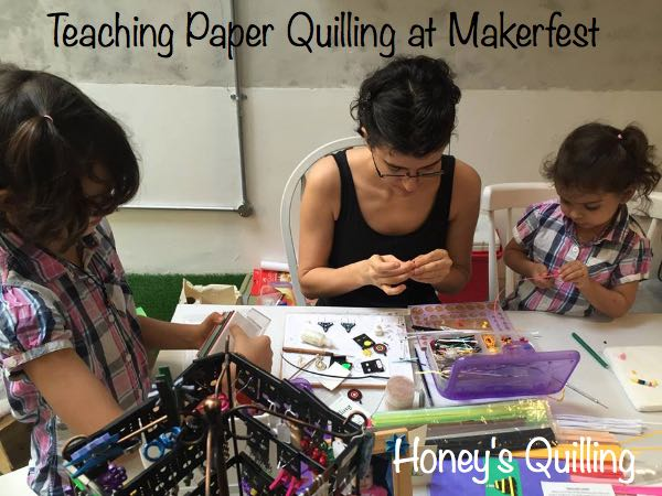 Teaching Paper Quilling at MakerFest