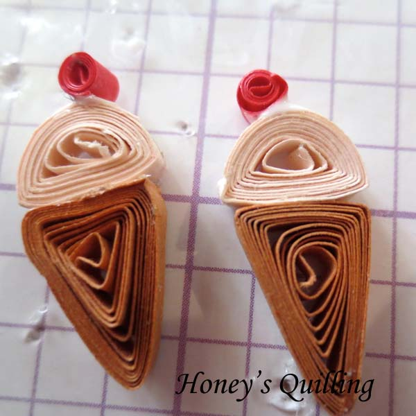Quilling for Kids - Svara's paper quilling icecream cone earrings