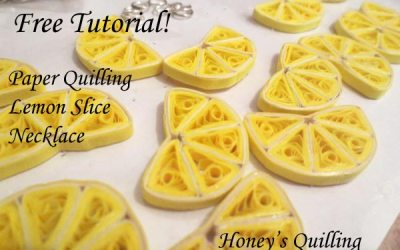 Paper Quilling Lemon Slice Necklace Tutorial