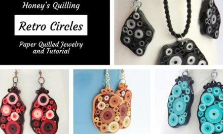 Retro Circles Paper Quilled Jewelry Collection