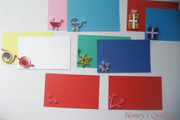 paper quilling gift card ideas - Honey's Quilling