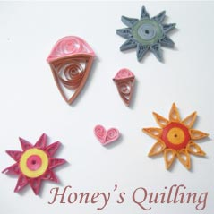summer time paper quilling
