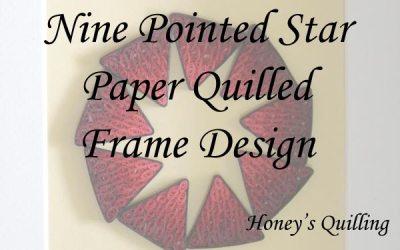 Nine Pointed Star Frame Design