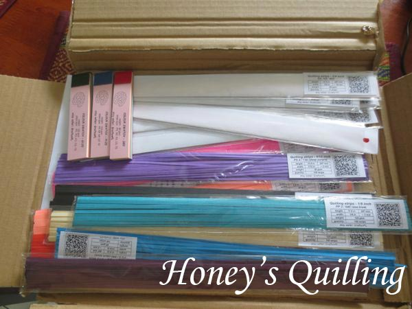 review of quilling paper strips from GraftonPL - Honey's Quilling