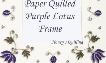 Purple Paper Quilled Lotus Frame Design – Plus Tutorial