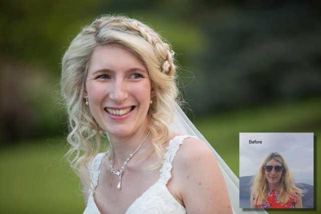 wedding hair stylist in gloucestershire   honeystone hair by