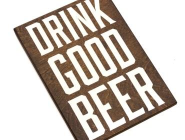 wood beer sign