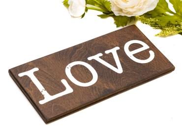 wood love sign
