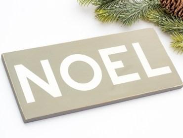 wood noel sign