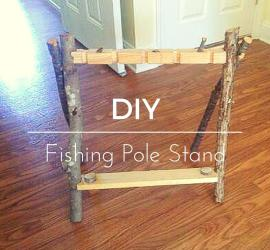 Homemade Fishing Pole Stand