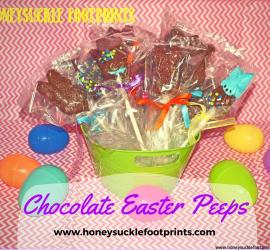 Chocolate Marshmallow Peeps - Easter Food