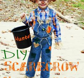Halloween Scarecrow Costume EASY DIY