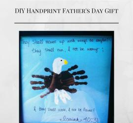 Handmade DIY handprint art for Father's Day Gift