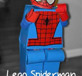 DIY AWESOME Homemade Lego Spiderman Costume for Halloween