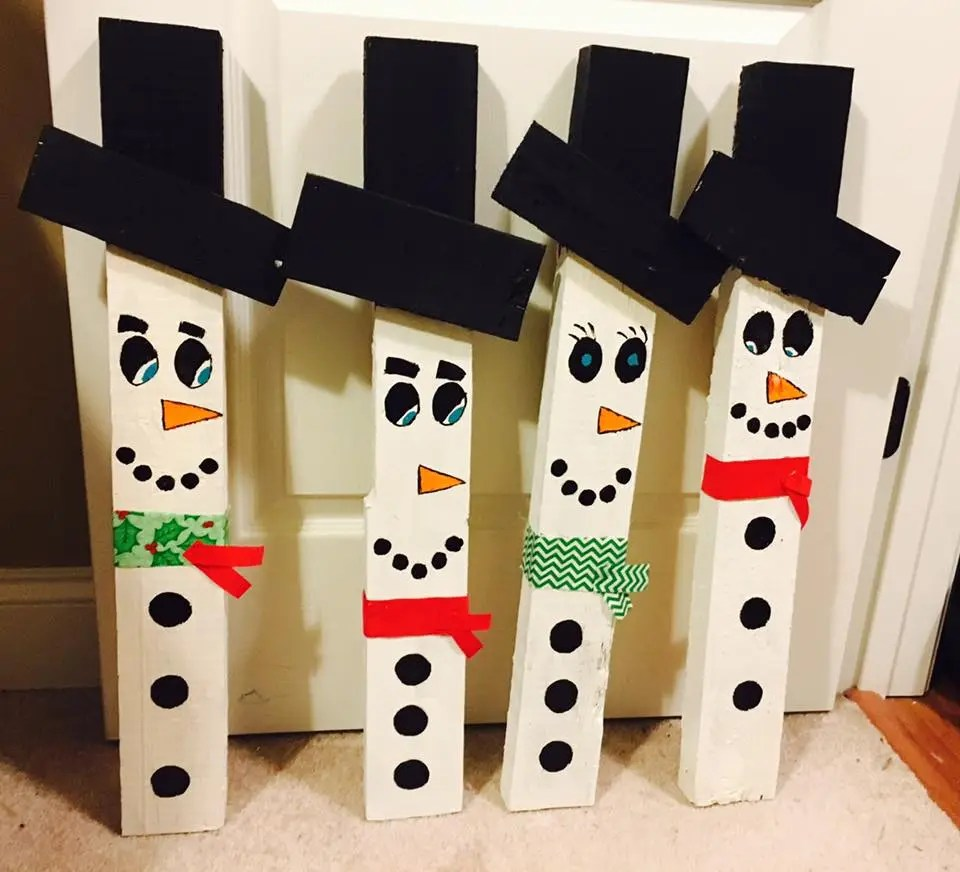 DIY Christmas Snowman Sign Pallet Wood Pallet sign