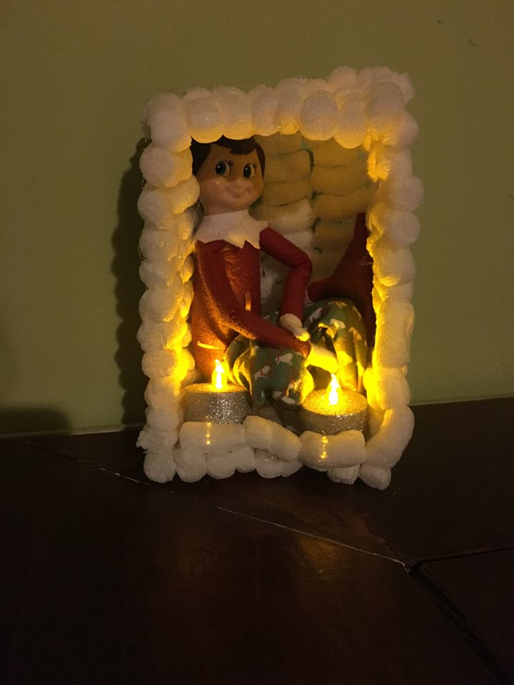 elf on the shelf ideas, Creative & unique elf ideas, Igloo house