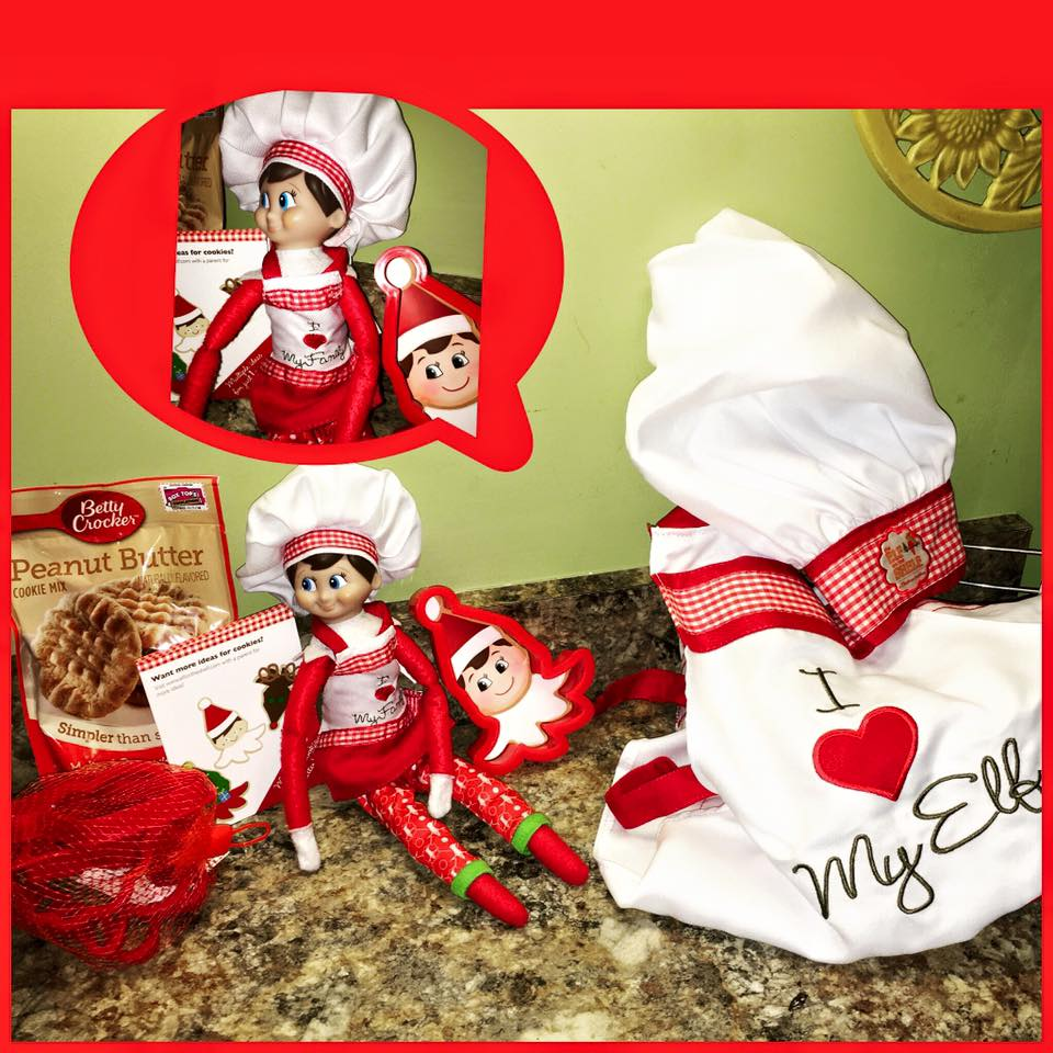 elf on the shelf ideas, Creative & unique elf ideas, Chef baking time