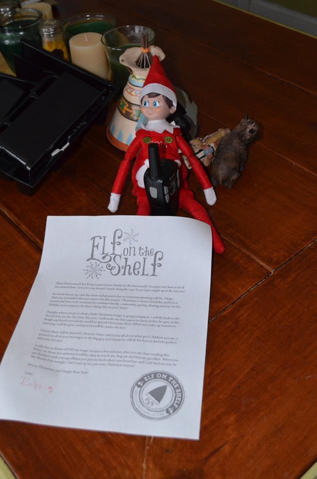 Unique Elf Ideas, creative, Elf on the Shelf, Elf note from Santa lifting magic