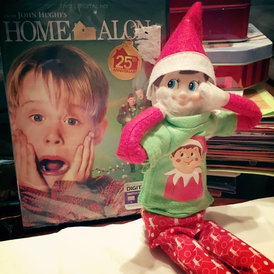 elf on the shelf ideas, Creative & unique elf ideas, Home alone