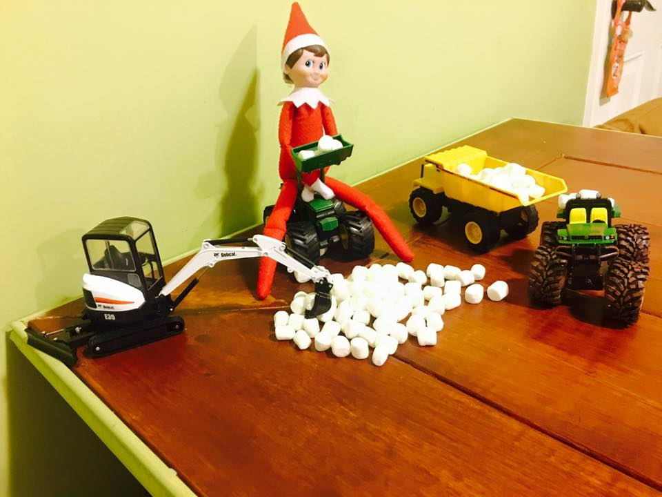 elf on the shelf ideas, Creative & unique elf ideas, Marshmallow movers