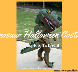 DIY, Homemade, Foam, Dinosaur Costume for Halloween