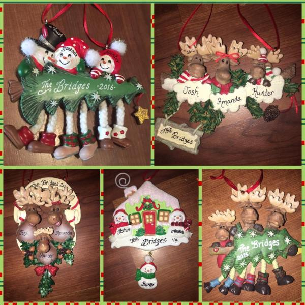 Christmas Traditions - Family Ornaments Personalized