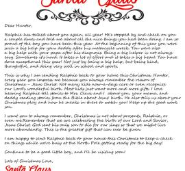 Elf arrival letter, 2016 from the desk of Santa Claus arrival letter - Jesus style