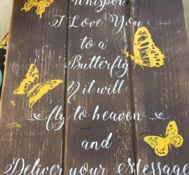 Butterfly Pallet Sign - DIY - In Memory Wood Signs