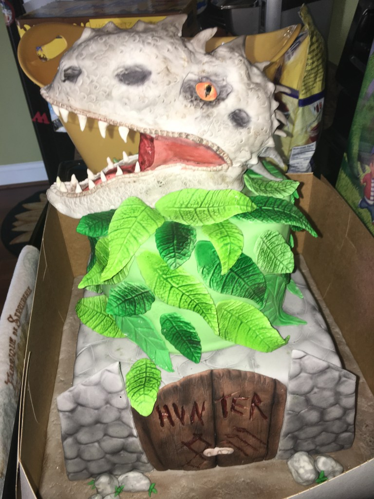 Dinosaur Birthday Party Cake, Jurassic Cake