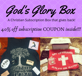 God's Glory Box, Subscription Box, Christian, Christian subscription box