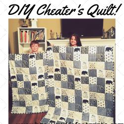DIY, Cheaters quilt, quilt, quilting