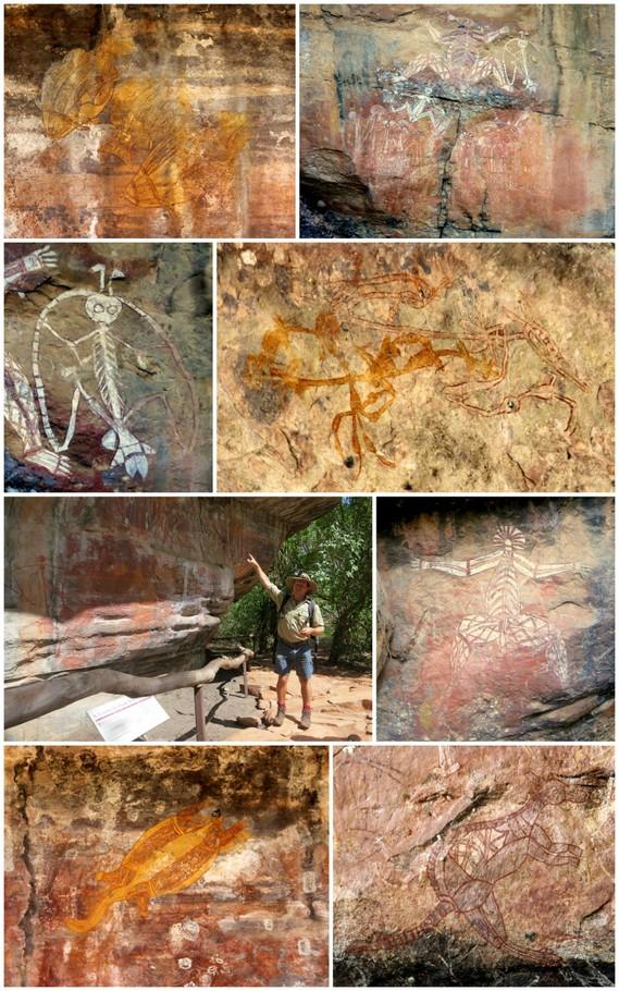 aboriginal rock art collage