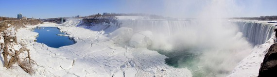Niagara Falls Winter Panoramic